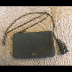 Chloe & Isabel suede clutch